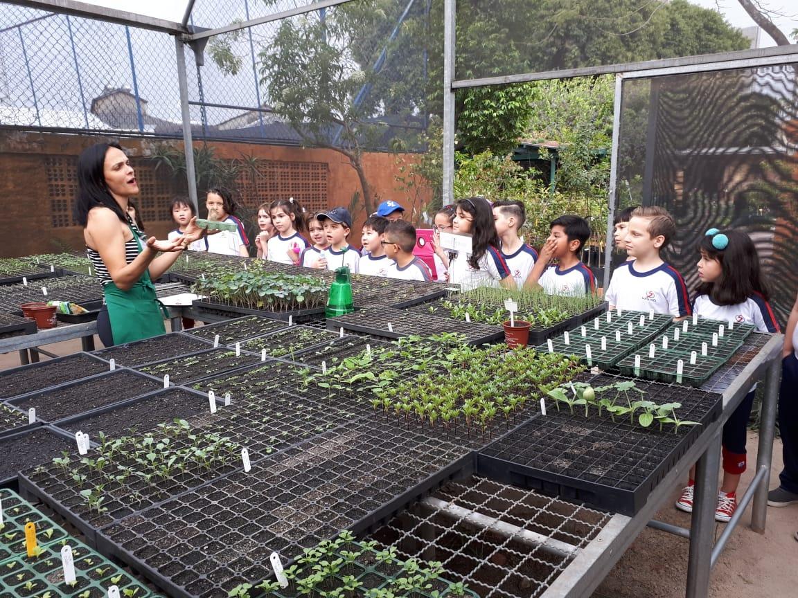 """2º ano do Ensino Fundamental I realiza visita ao projeto """"Dedinho Verde"""""""